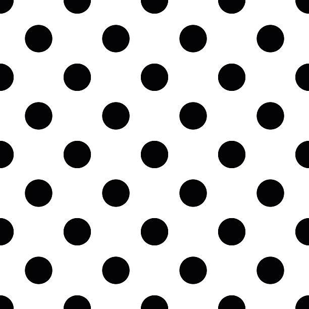 Black and white polka dot seamless pattern vector Black and white polka dot seamless pattern vector polka dot stock illustrations