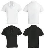 Black and White Polo Shirt Template