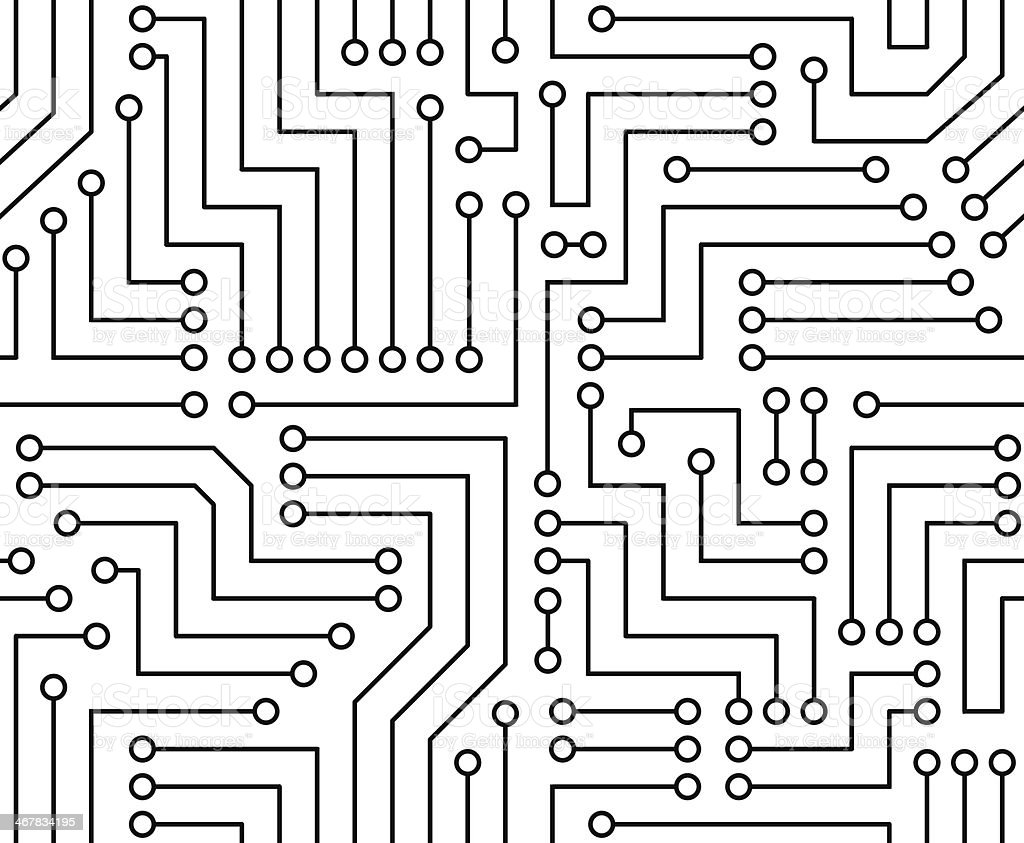 Black And White Printed Circuit Board Stock Vector Art & More Images ...