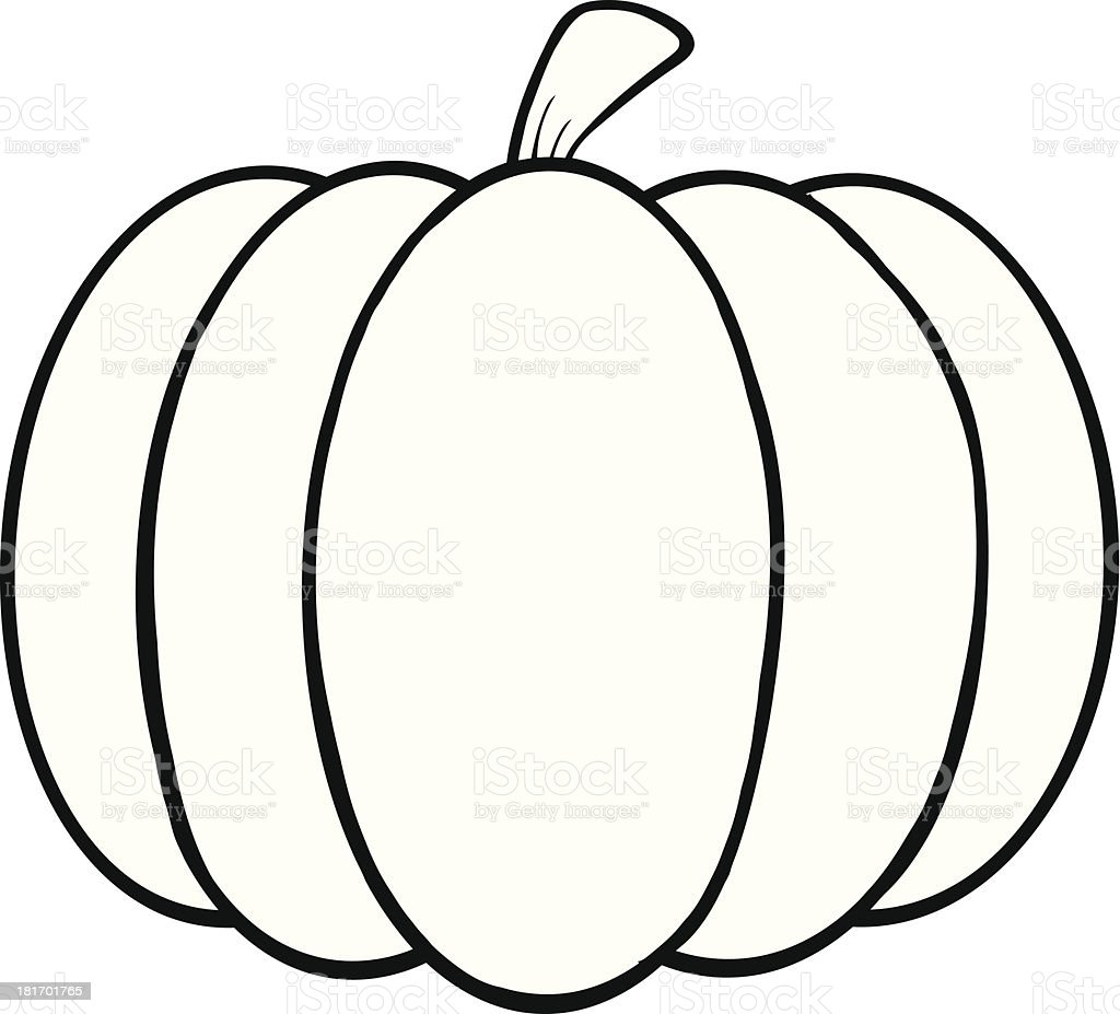 Black and white cartoon pumpkin — Stock Vector ... |Cartoon Black And White Pumkin