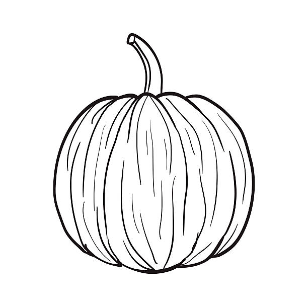 Royalty Free Black And White Pumpkin Clip Art, Vector ...