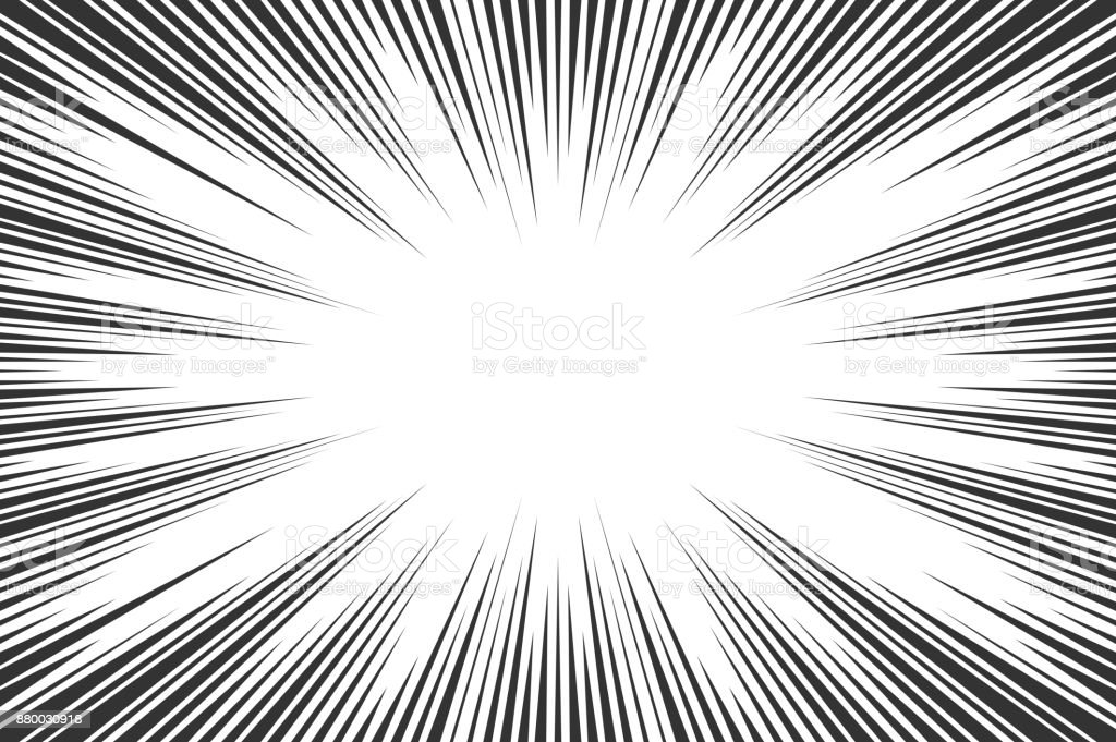 black and white radial lines comics style backround manga