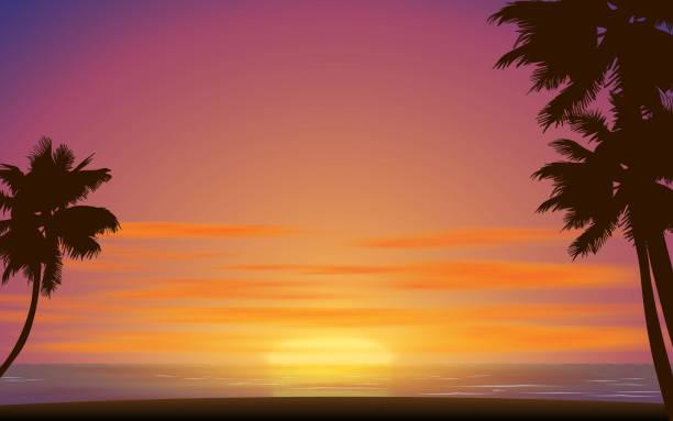 black and white room landscape of the beach in sunset dusk stock illustrations