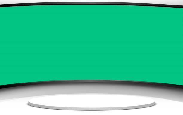 stockillustraties, clipart, cartoons en iconen met zwart-witte kamer - green screen
