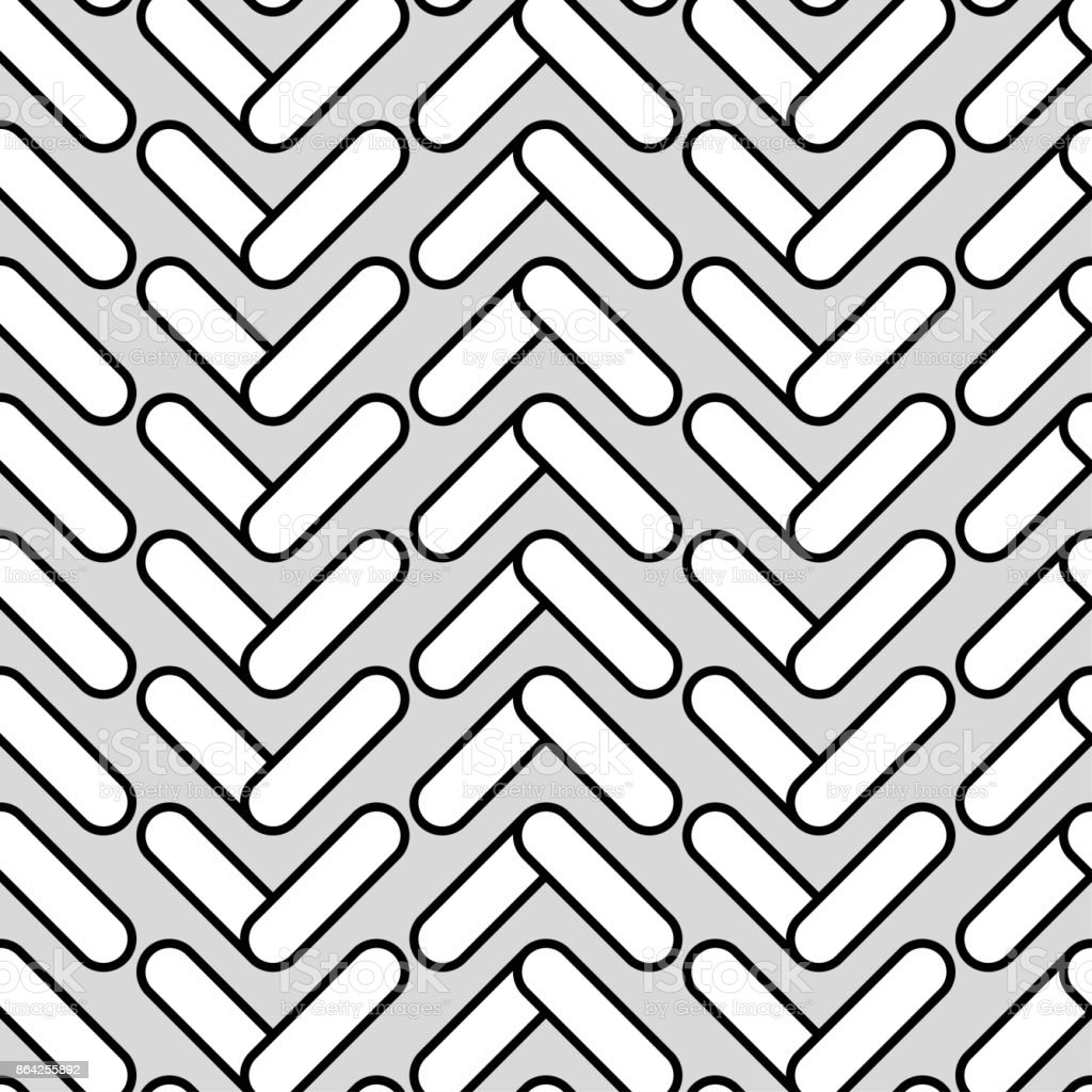 Black and white Seamless geometric pattern. Flat design. Textile rapport. royalty-free black and white seamless geometric pattern flat design textile rapport stock vector art & more images of abstract