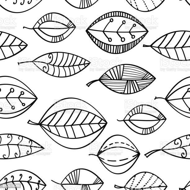 Black and white seamless leaves pattern hand drawn doodle background vector id842678086?b=1&k=6&m=842678086&s=612x612&h=9pmcm ivfgbuzkh331kawfzka3tjfmuz9fqvssezbfc=