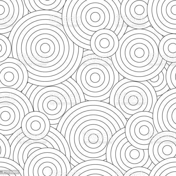 black and white seamless pattern for coloring book in doodle style vector id