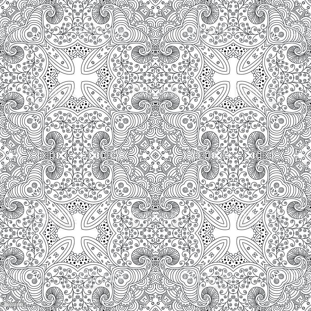 Bianco E Nero Motivo Senza Interruzioni Psichedelica Immagini
