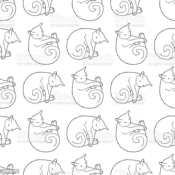 Black and white seamless pattern with cat vector id626287082?b=1&k=6&m=626287082&s=612x612&h=ncmuokyrgt0mhowrzoyaomulmycleu8vhuf1p41bzaq=