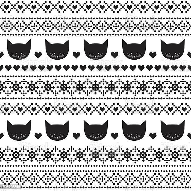 Black and white seamless pattern with cats scandinavian sweater style vector id508508388?b=1&k=6&m=508508388&s=612x612&h=p2oqrh msfzkcbboye ohubwjhixw4a1mpthw7th5u0=