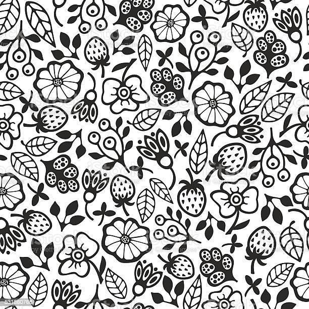 Black and white seamless pattern with flowers vector id531860768?b=1&k=6&m=531860768&s=612x612&h=nvmqfa hec6my xbcvlqdz upwprn0gjg2slcgijdlc=