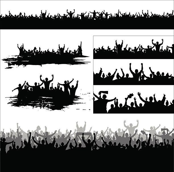 banner für den sport und konzerte stattfinden - fussball fan stock-grafiken, -clipart, -cartoons und -symbole