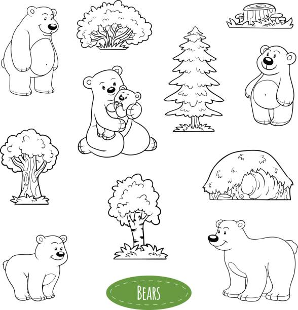 Royalty Free Bear Cave Clip Art, Vector Images