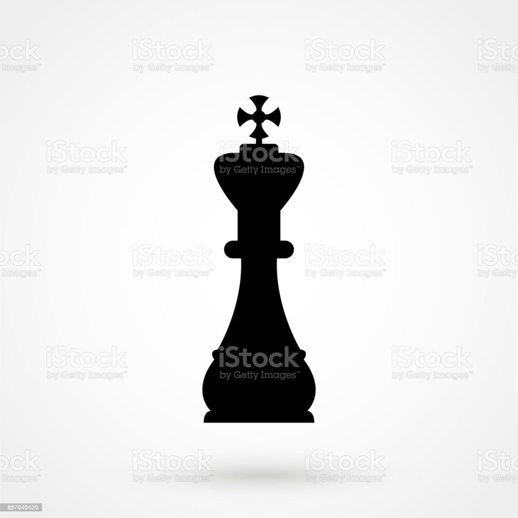 A Black And White Silhouette Of A Chess Piece King Stock ...
