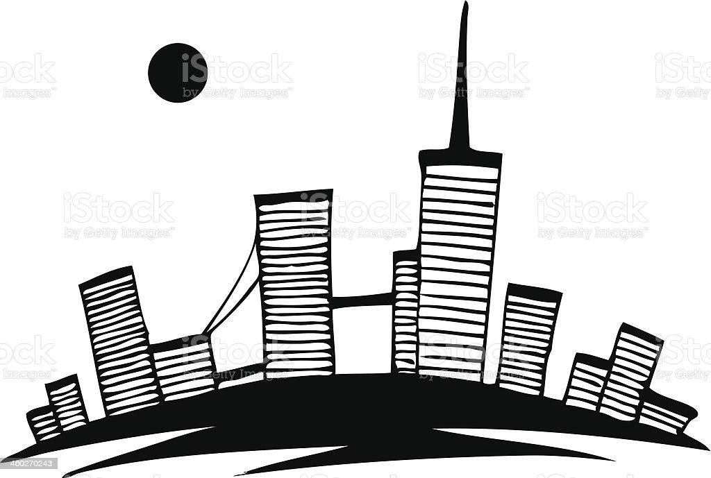 абстрактный рисунок город
