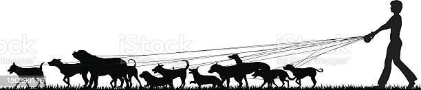 Black and white silhouette of female dog walker vector id150390116?b=1&k=6&m=150390116&s=612x612&h=dcereewq wxpplujqjxikrnkp3wdl2klfmvvetiha7o=