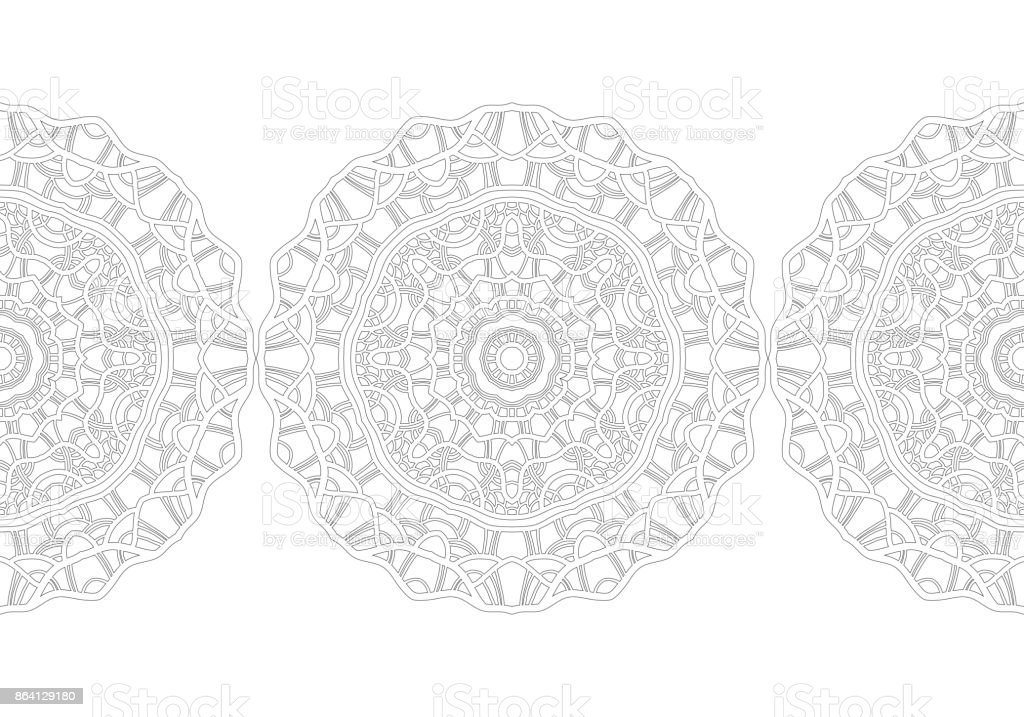 Black and white silhouette of snowflakes. Lace, round ornament and decorative border. royalty-free black and white silhouette of snowflakes lace round ornament and decorative border stock vector art & more images of abstract