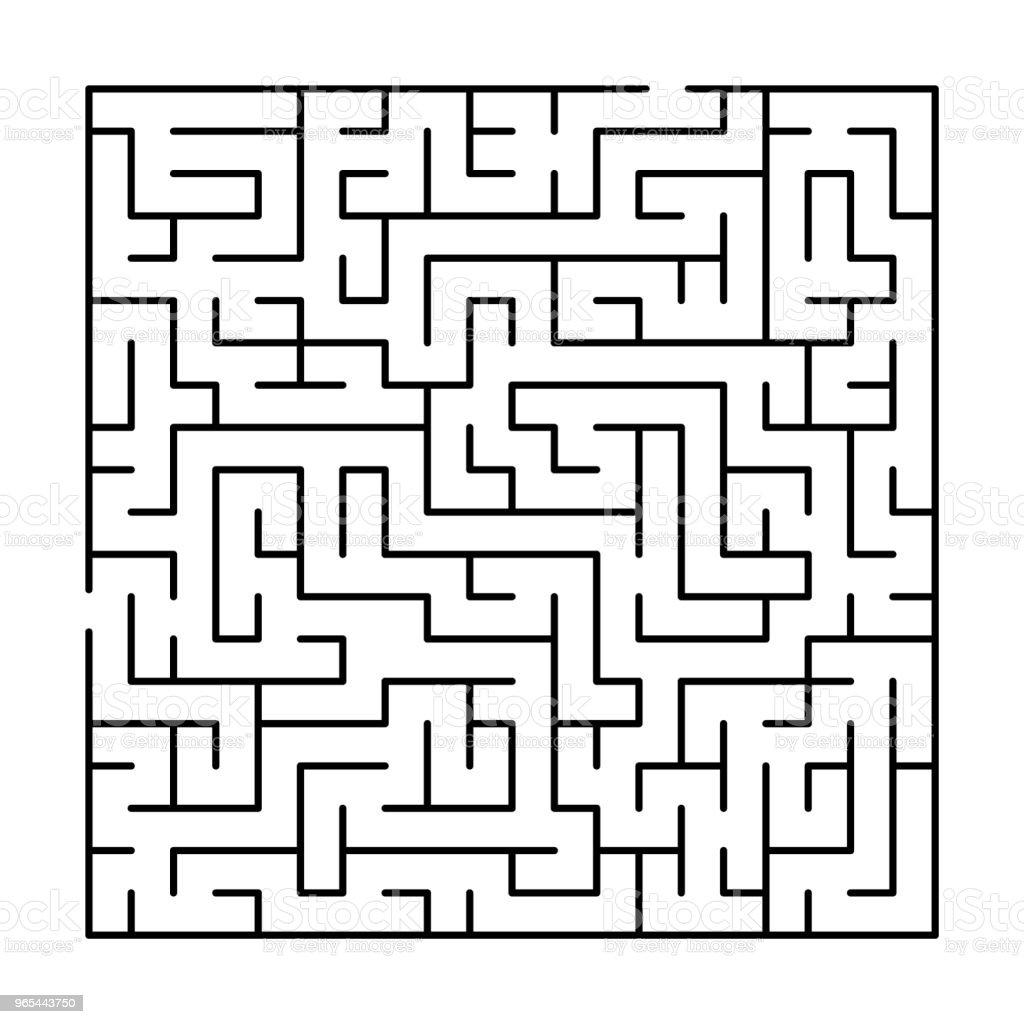 Black and white simple maze puzzle, vector black and white simple maze puzzle vector - stockowe grafiki wektorowe i więcej obrazów abstrakcja royalty-free