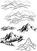 Illustration of mountain.