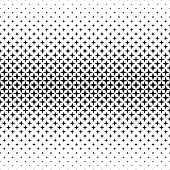 Black and white star pattern - abstract vector background graphic from geometric shapes