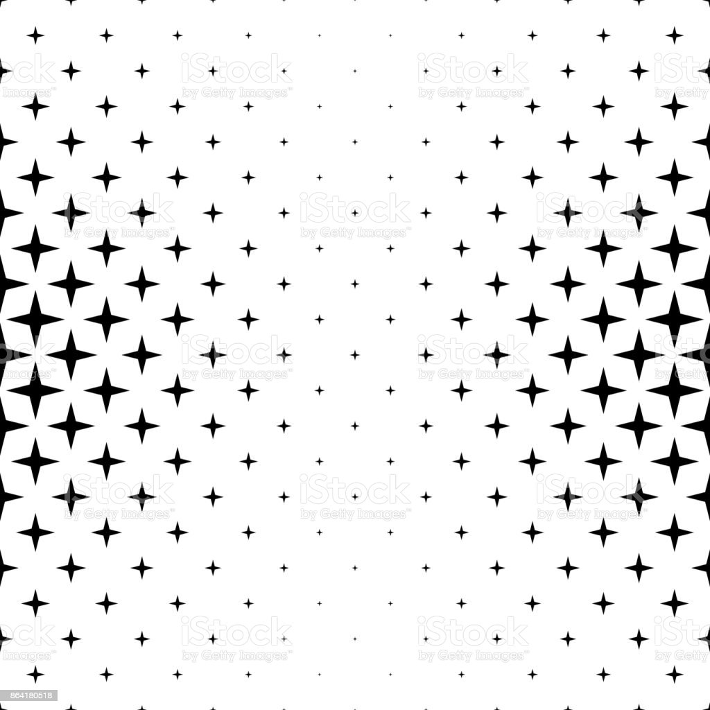 Black And White Star Pattern