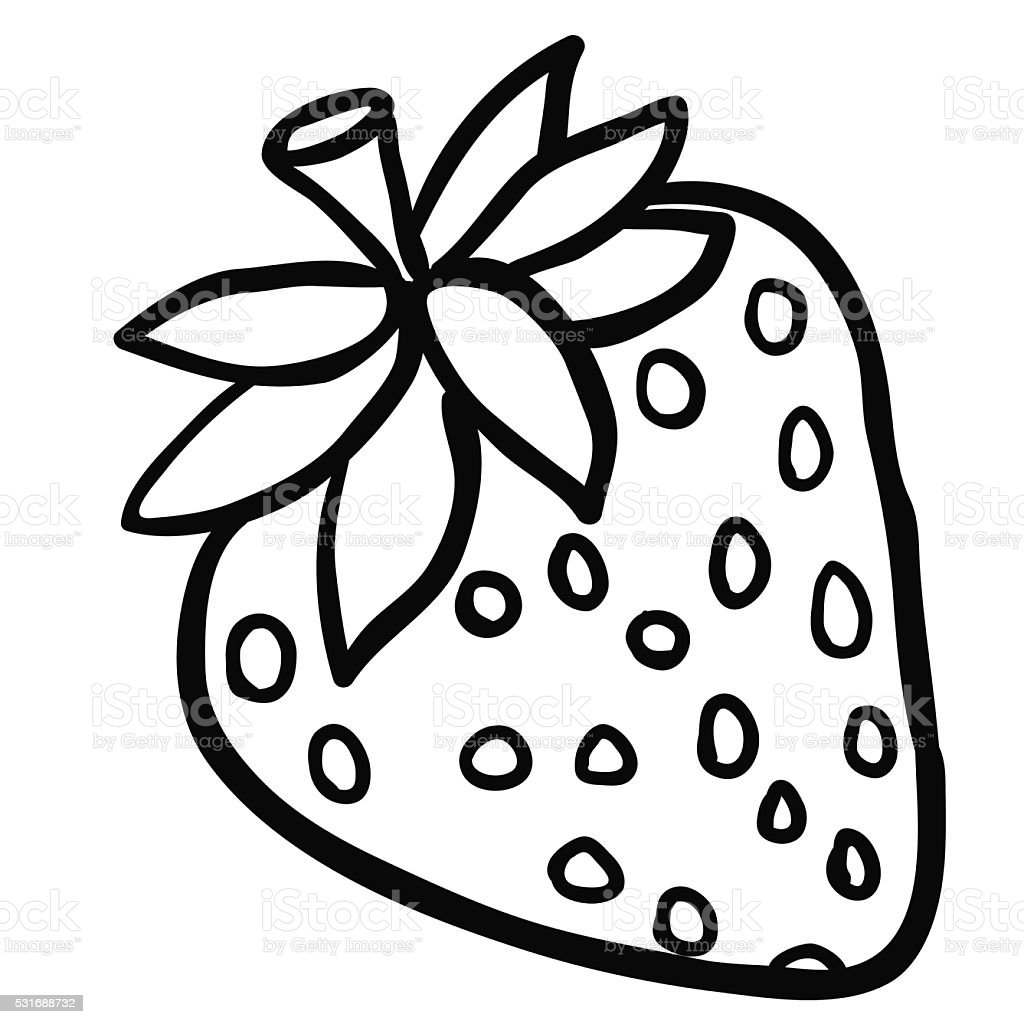 Black And White Strawberry Stock Vector Art  for Clipart Strawberry Black And White  54lyp