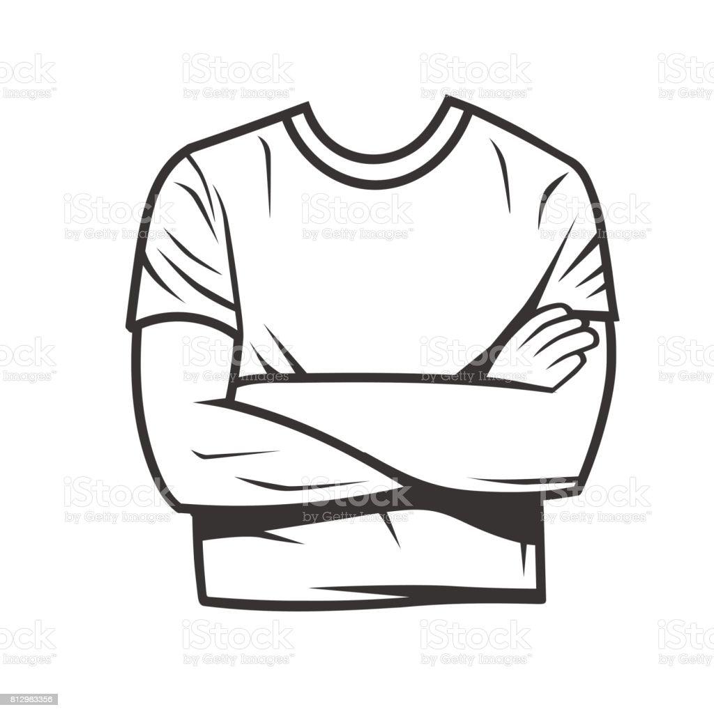 * Blanco y negro ilustración de logo de hombre elegante. Blanco y negro los objetos vectoriales - ilustración de arte vectorial