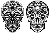 istock Black and White Sugar Skulls 961649616