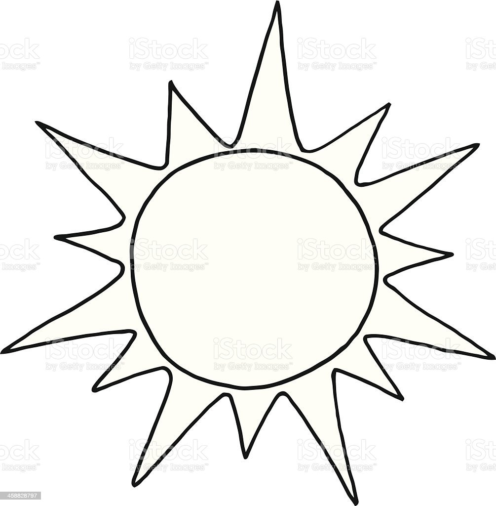 black and white sun stock vector art more images of black and rh istockphoto com Free Sun Graphics Sun Clip Art Free
