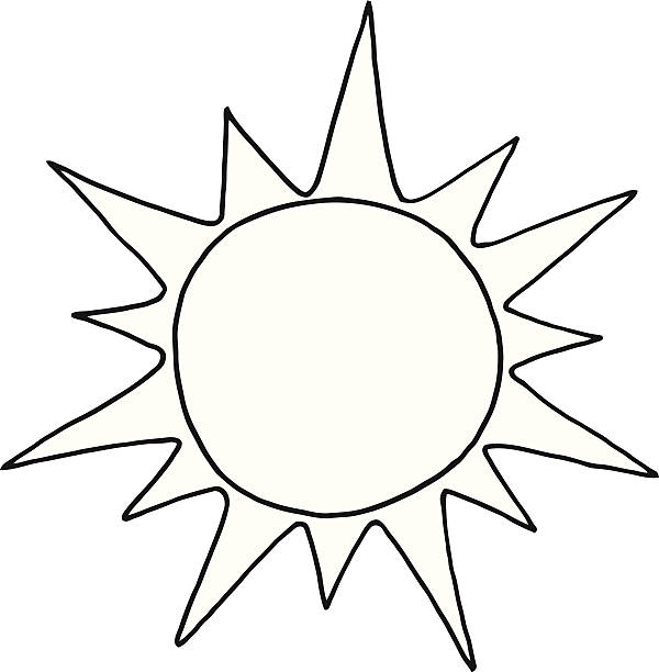Best Sun Clipart Black And White Illustrations, Royalty