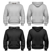 Black and white sweatshirt template in vector
