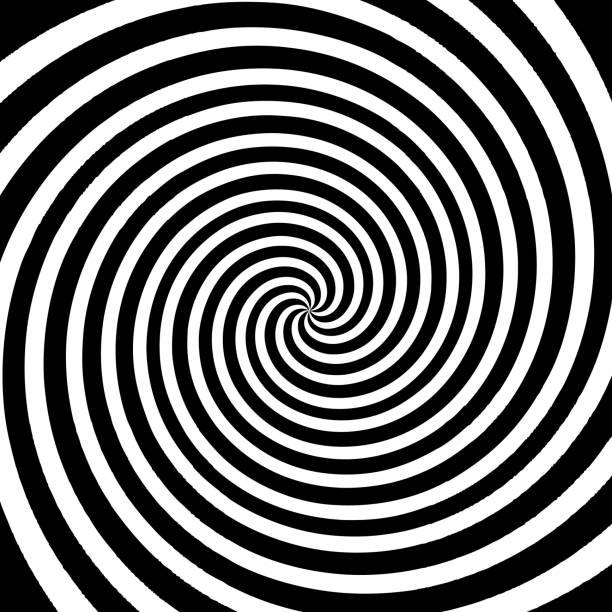 schwarz und weiß wirbel hintergründe - höhenangst stock-grafiken, -clipart, -cartoons und -symbole