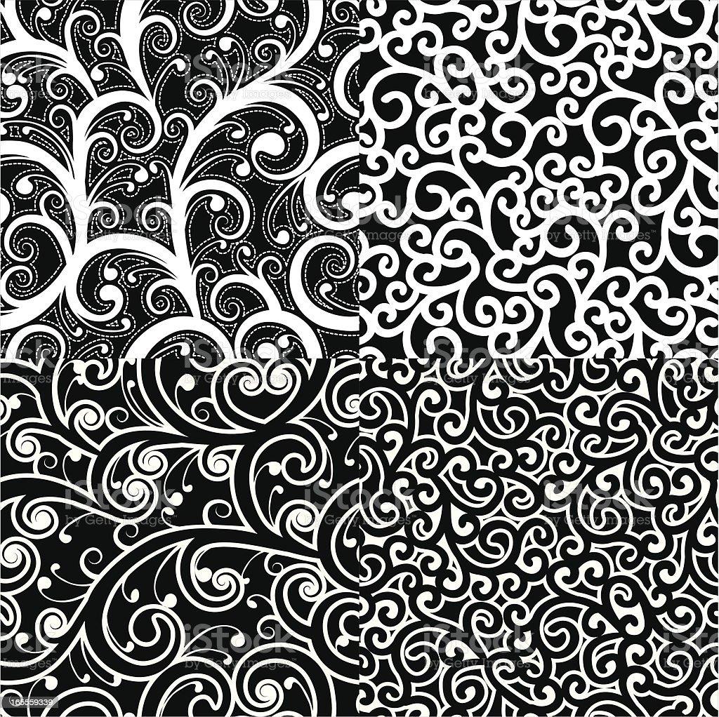 Black and white swirls royalty-free stock vector art