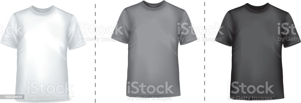 Black and white t- shirts. royalty-free stock vector art