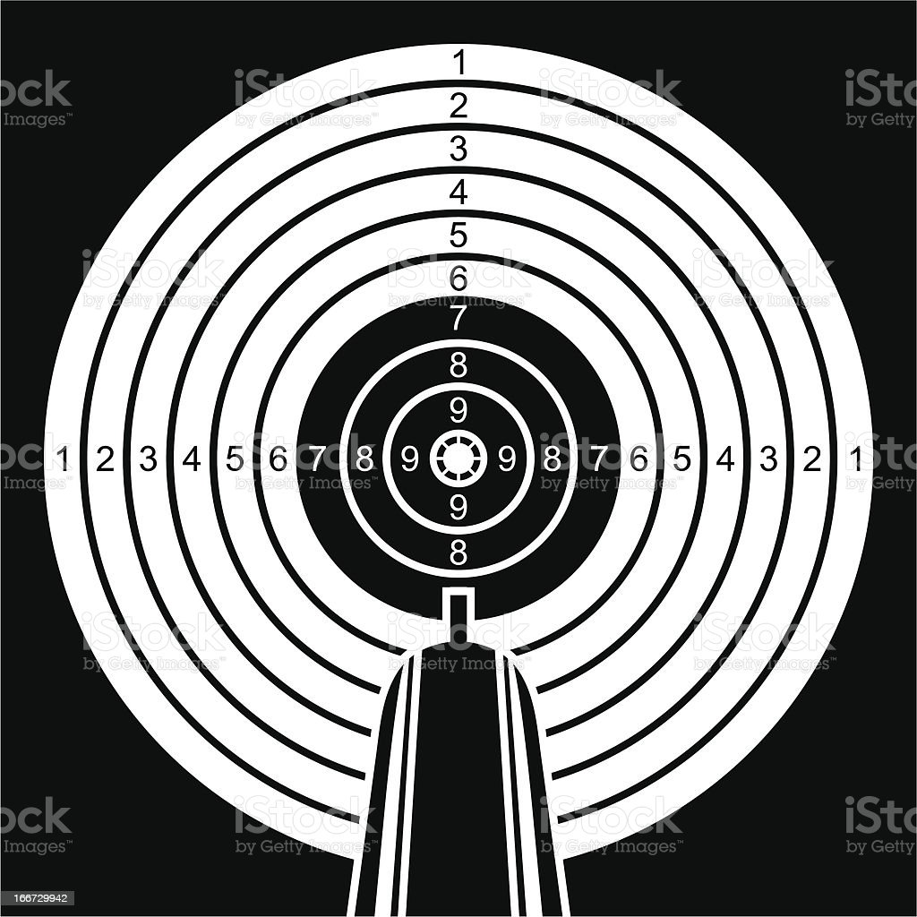 Black and white target. royalty-free black and white target stock vector art & more images of accuracy