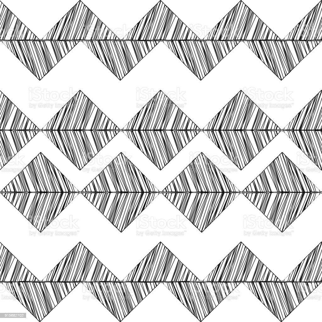 Ilustración de Textura Blanco Y Negro Triángulos Dibujados Sin ...