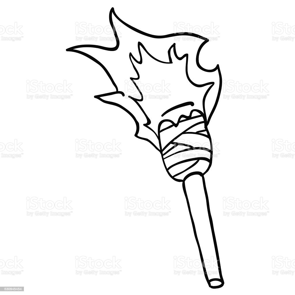Black And White Torch Stock Vector Art  for Torch Clipart Black And White  242xkb