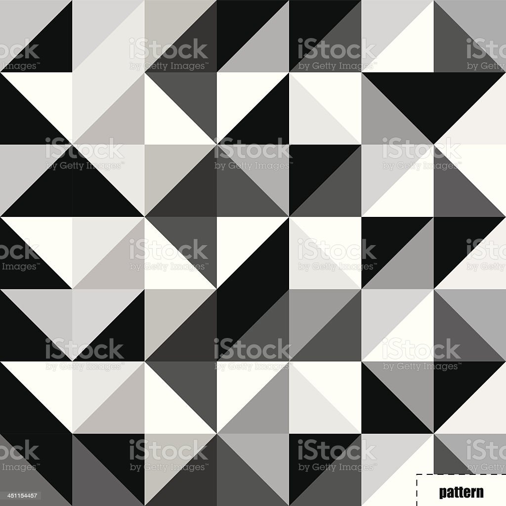 Black and white triangle pattern, background, texture royalty-free stock vector art