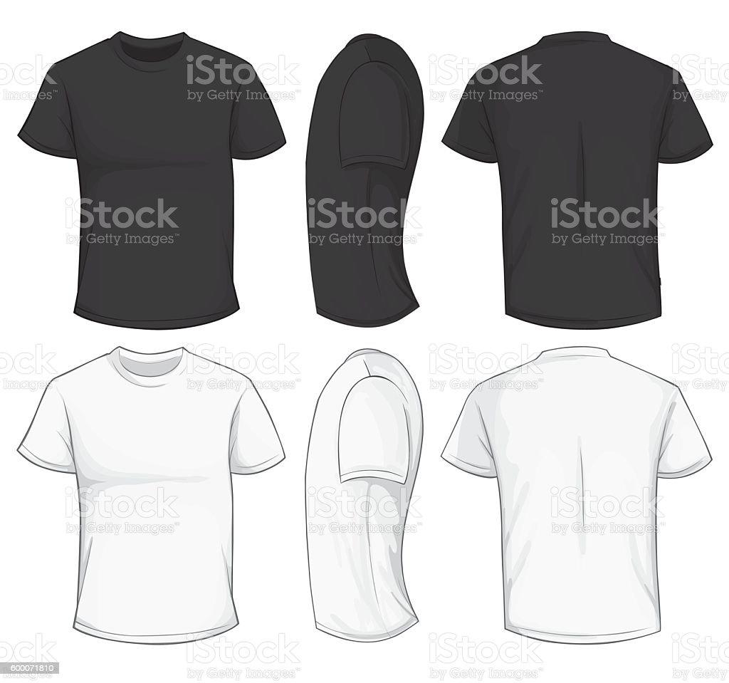 Black and White T-Shirt Template vector art illustration
