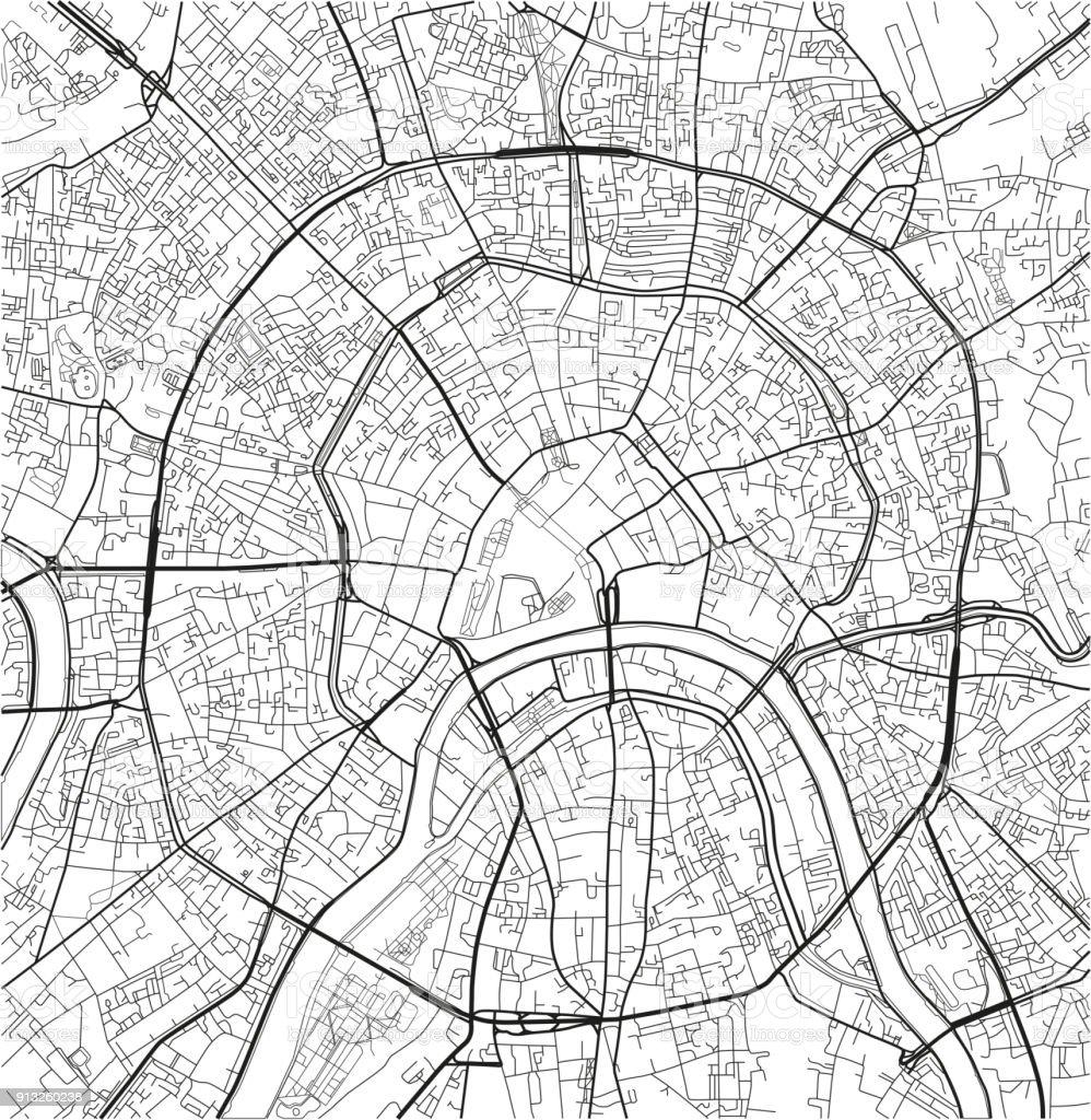 Karte Europa Schwarz Weiss.Schwarz Weiss Vektor Stadtplan Von Moskau Mit Gut
