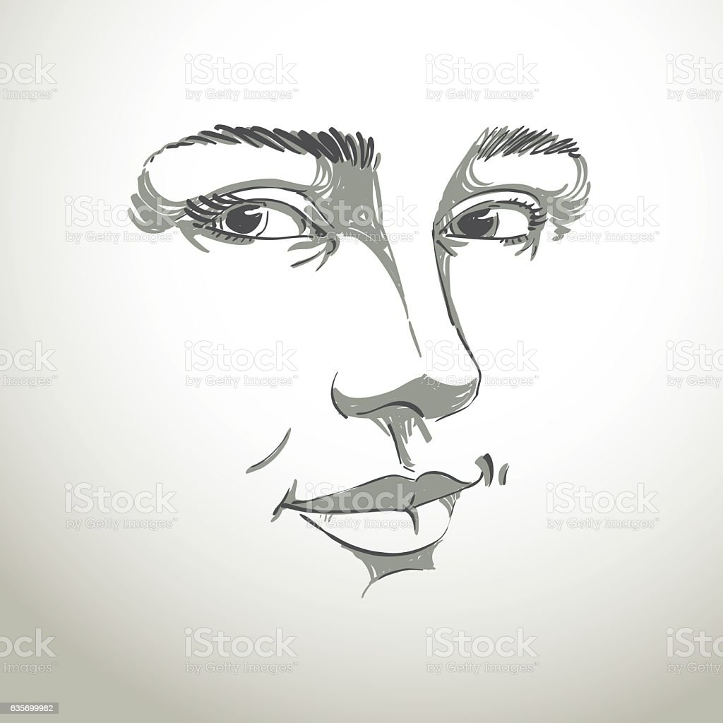 Black and white vector hand-drawn portrait of woman royalty-free black and white vector handdrawn portrait of woman stock vector art & more images of adult