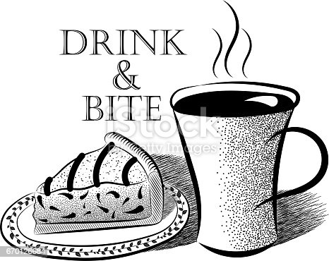 black and white vector illustrations cup of coffee and Inscriptions Jewelry Clip Art Prescription Clip Art