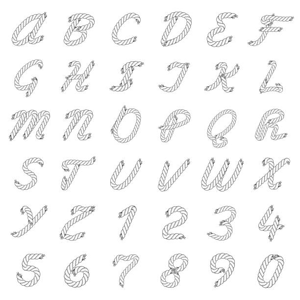 Best Rope Font Illustrations, Royalty-Free Vector Graphics