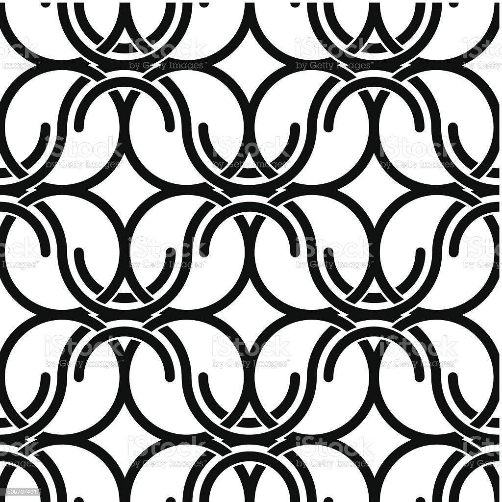 Black and white vintage style netting seamless pattern, vector vector art illustration