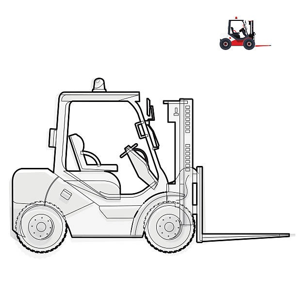 Royalty Free Forklift Clip Art, Vector Images