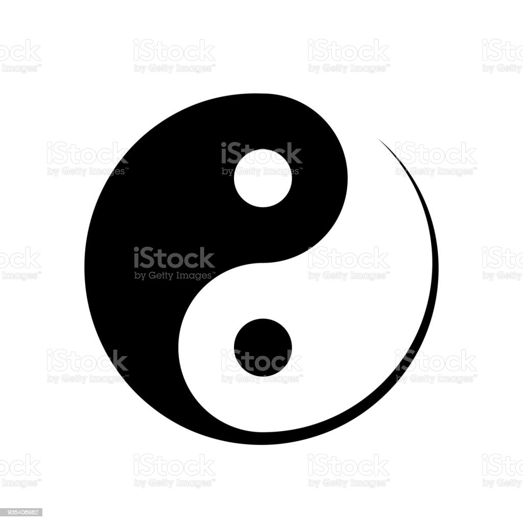 black and white yin yang symbol stock vector art more images of rh istockphoto com Yin Yang Cat Black Yin Yang Cat Black