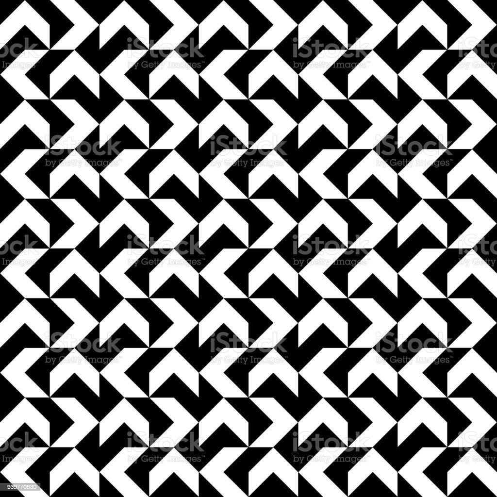 Schwarzen Und Weißen Streifen Zickzackmuster Geometrische Sich ...