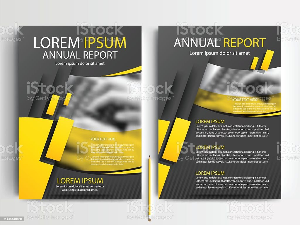 Black And Yellow Flyer Brochure Template Design Of Annual Report