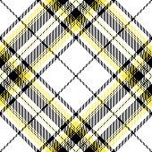 Black And Yellow Scottish Tartan Plaid Textile Pattern