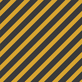 Black and yellow stripe seamless pattern. Colorful diagonals for art, design, police stripe border, warning construction sign. Vector geometric background